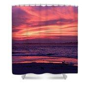 Tybee Island Sunset Shower Curtain