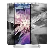 Tye-dye Bud Shower Curtain