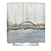 Tyne Bridges And Quayside Shower Curtain
