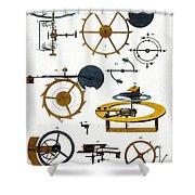 Types Of Clock Mechanism, 1810 Shower Curtain