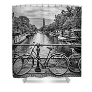 Typical Amsterdam - Monochrome Shower Curtain