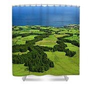 Typical Azores Islands Landscape Shower Curtain