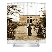 Typical House India Rajasthani Village 1e Shower Curtain