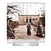 Typical House India Rajasthani Village 1f Shower Curtain