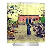 Typical House India Rajasthani Village 1j Shower Curtain