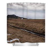 Typical Icelandic Mountain Landscape Shower Curtain
