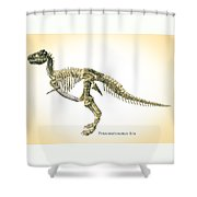 Tyrannosaurus Rex Skeleton Shower Curtain