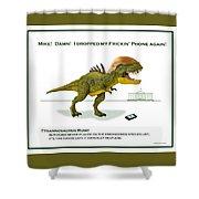 Tyrannosaurus Rump Shower Curtain