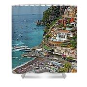 Tyrrhenian Sea Amalfi Coast Shower Curtain