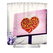 Tyson's Tacos Heart Shower Curtain