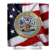 U. S. Army Seal Over American Flag. Shower Curtain