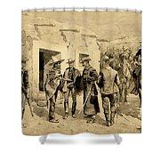 U. S. Cavalry Hunting Garza Men On The Rio Grande Shower Curtain