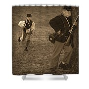 U. S. Civil War Messenger Boy On The Run Shower Curtain