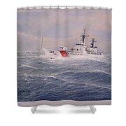 U. S. Coast Guard Cutter Gallitin Shower Curtain by William H RaVell III