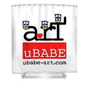 uBABE Art Wave Shower Curtain