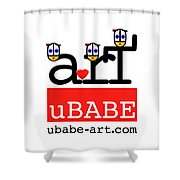 uBABE Art Wave Shower Curtain