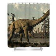 Uberabatitan Dinosaur Walking Shower Curtain