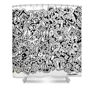 Uberman Collaberation Shower Curtain by Chelsea Geldean
