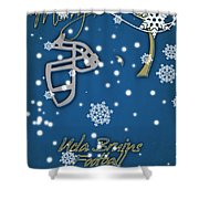 Ucla Bruins Christmas Card Shower Curtain