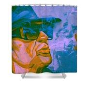 Udo Lindenberg Die Coole Socke 4 Pop Art Pur Shower Curtain