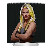 Ufc Fighter Paige Van Zant Shower Curtain