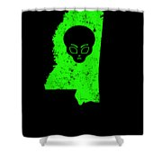 Ufo Abduction Extraterrestrial Archaeology Mississippi Shower Curtain
