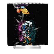 Ufo Astronaut Spaceshuttle Space Force Shower Curtain