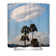 Ufo Cloud Over Palm Springs Shower Curtain