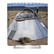 Ufo Landing Shower Curtain