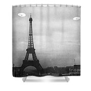 Ufo: Paris Shower Curtain