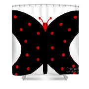 ugly Bug butterfly Shower Curtain