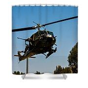 Uh-1 Huey Arrival Shower Curtain