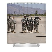 Uh-60 Black Hawk Aircrew Conduct Shower Curtain