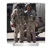 Uh-60 Black Hawk Crew Chiefs Shower Curtain