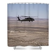 Uh-60 Black Hawk En Route To New Mexico Shower Curtain