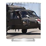 Uh-60 Black Hawk Refuels Shower Curtain