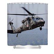 Uh-60a Black Hawk Medevac Helicopter Shower Curtain