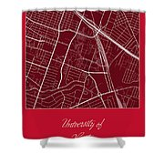 Uh Street Map - University Of Houston In Houston Map Shower Curtain