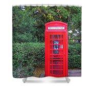 U.k. Phone Booth Shower Curtain