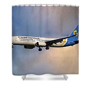 Ukraine International Airlines Boeing 737-8eh Shower Curtain