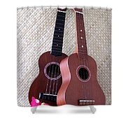 Ukulele Duet Shower Curtain