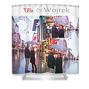 Ula And Wojtek Engagement 2 Shower Curtain