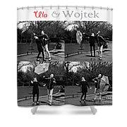 Ula And Wojtek Engagement 3 Shower Curtain