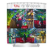 Ula And Wojtek Engagement 4 Shower Curtain