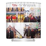 Ula And Wojtek Engagement 5 Shower Curtain