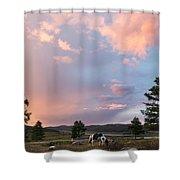 Ulagan Sunset. Mountain Altay Shower Curtain