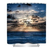 Ultra Blue Sunrise Shower Curtain