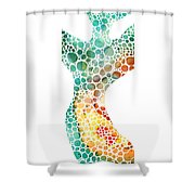 Ultra Modern Art - Colorforms 2 - Sharon Cummings Shower Curtain