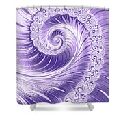 Ultra Violet Luxe Spiral Shower Curtain