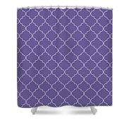 Ultra Violet Quatrefoil Shower Curtain